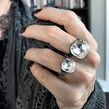 LUCID - Clear Swarovski Crystal Ring - 2 Crystal Size Options