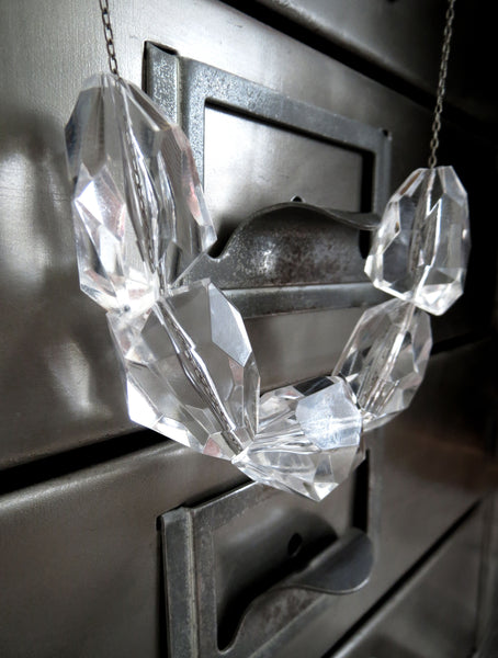 ICE - Clear Chunky Faceted Cube Necklace