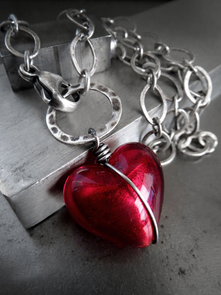 red luvalti half products heart mother bracelet pendant