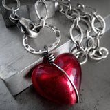 Prisoner of Love - Sexy Red Heart Pendant Necklace