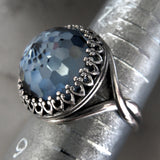 WINDOW to the SOUL V2 - Vintage Swarovski Crystal Ring in Slate Blue