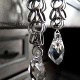 Silver Jazz Crystal Earrings