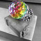 DISCO BALL - Rainbow Vintage Swarovski Crystal Ring