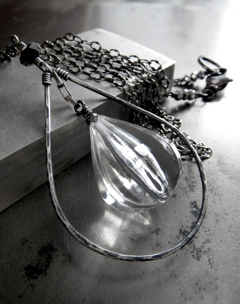 Though Thick & Thin - Clear Raindrop Necklace