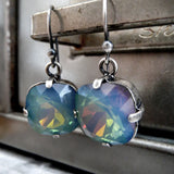 OPAL GHOST - Blue Multicolor Swarovski Crystal Earrings