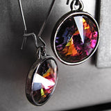 Kaleidoscope - Multicolor Swarovski Rivoli Crystal Earrings