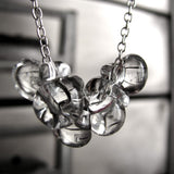Clear Glass Water Drop Necklace
