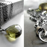 DIRTY MARTINI - Olive Green Quartz Gemstone Necklace