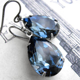 Something Blue - Swarovski Crystal Teardrop Earrings