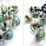 OCEAN'S EDGE - Ombre Blue Green Glass Drop Necklace