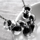 Black Ink Glass Drop Necklace