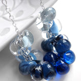 Blue Ombre Necklace - Gradient Glass Drops in Shades of Blue