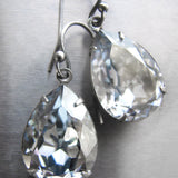 ICE BLUE - Swarovski Crystal Teardrop Earrings