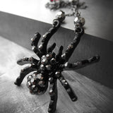 BLACK WIDOW - Sparkle Spider Asymmetrical Necklace