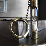 TIME WILL TELL - Sand Hourglass Pendant Lariat Necklace