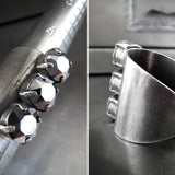 Tomboy Crystal Trio Ring - Swarovski Metallic Chrome