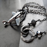 WANDERLUST - Jet Airplane Pendant Necklace for Adventure Traveler