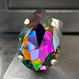 SPELLBOUND - Large Rainbow Teardrop Swarovski Crystal Cocktail Ring
