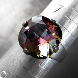 Midnight Bloom - Dark Swarovski Crystal Ring on Matte Charcoal Band