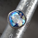 GLACIER - Swarovski Crystal Ring in Shimmer Blue
