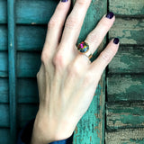 AUTUMN'S RAINBOW - Swarovski Crystal Ring in Rich Fall Hues