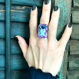 WATERCOLOR - Large Swarovski Crystal Ring in Romantic Pastels