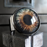Halloween Eyeball Ring with Realistic Brown Eye