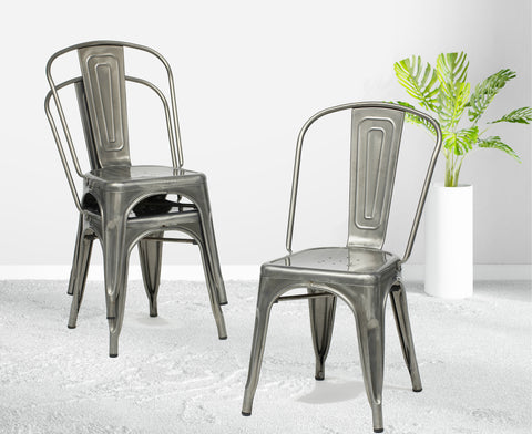 Gunmetal French Chair