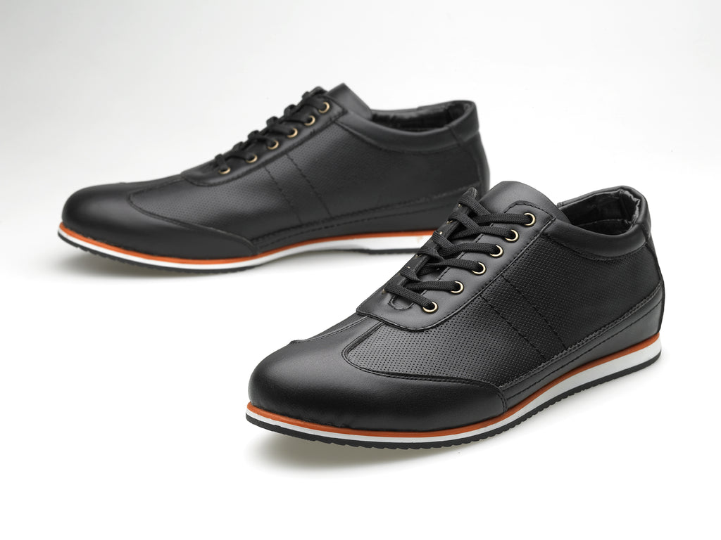 New Zealand leather black/orange