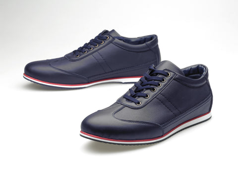 New Zealand leather navy/red