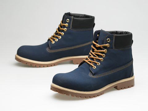 Winter boots blue