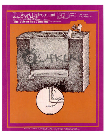 The Velvet Underground, Ramon Ramon and the Four Daddyos, Crowbar and Walter Brothers, October 23, 1969