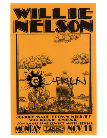 Willie Nelson and Doak Snead - Ritz Theatre - Nov 11, 1974