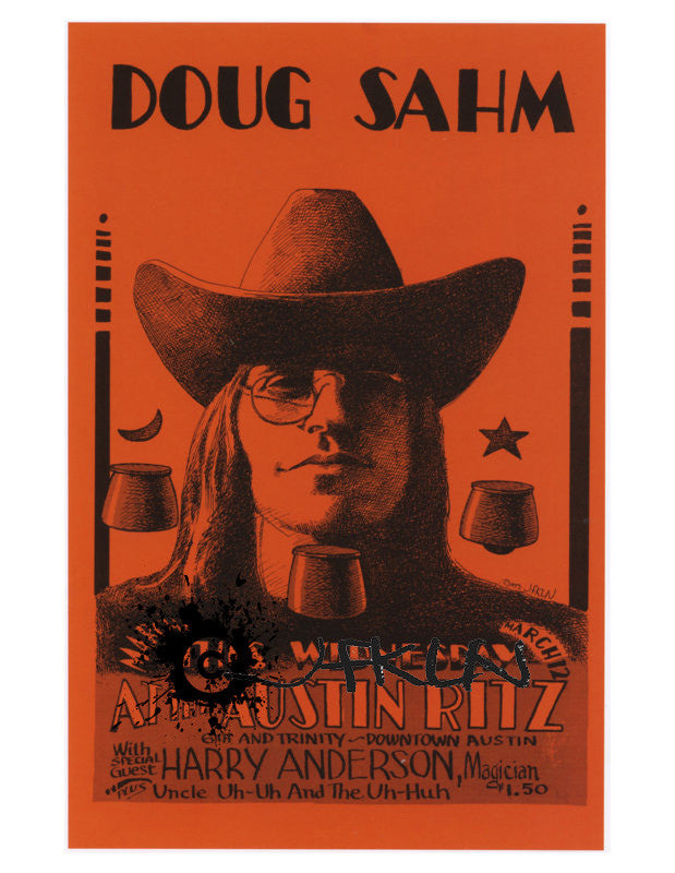 Doug Sahm, Harry Anderson, & Uncle Uh-Uh and the Uh-Huh, Ritz Theatre - March 12, 1974