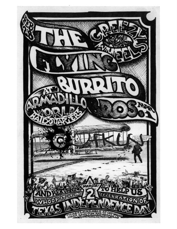The Flying Burrito Bros. & Greezy Wheels - AWHQ - Feb 28 - March 2, 1975