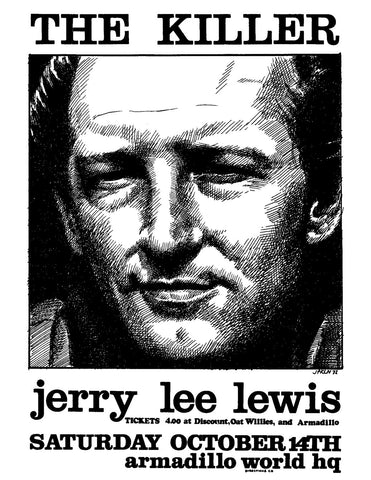 Jerry Lee Lewis Handbill - AWHQ October 14