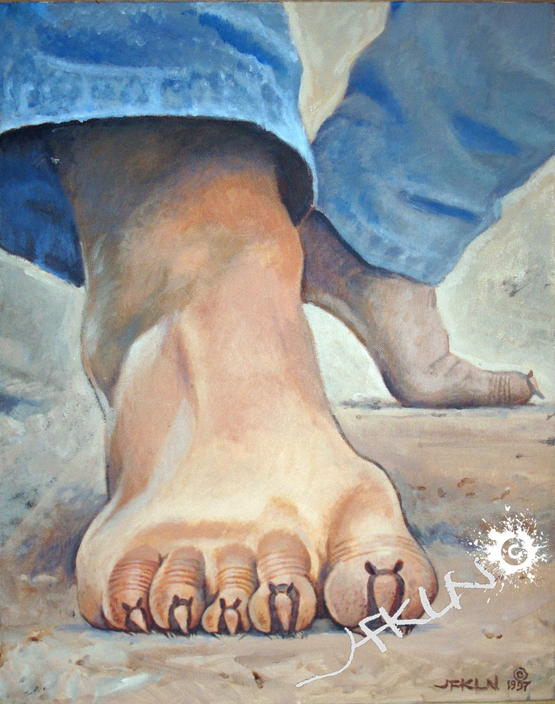 "Giclee Print of ""Dillo Toes"" Painting - Canvas"