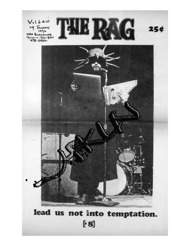 The Rag - Vol. 6 No. 11  January 1972 - Cover