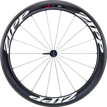 Zipp 404 Firecrest Carbon Clincher Front Wheel, 700c, 18 Spokes, 77, V3, White Decal