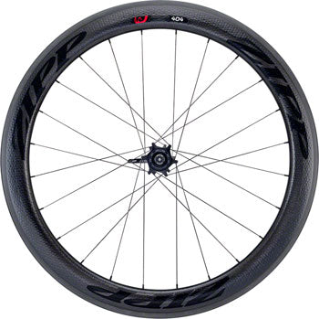 Zipp 404 Firecrest Carbon Clincher Front Wheel, 700c, 18 Spokes, 77, V3, Black Decal