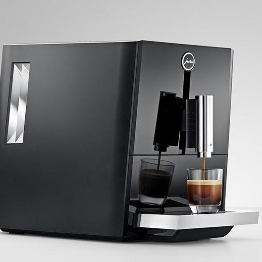 Jura A1 Piano Black Full Automatic Espresso Machine Sideview