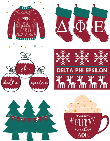 Sorority Holiday Stickers! (Limited Edition)