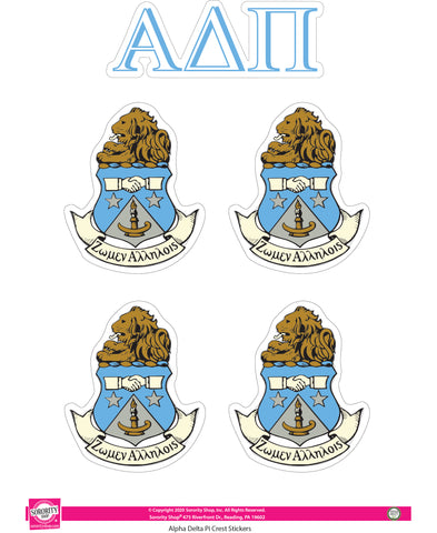 Alpha Delta Pi Crest Stickers