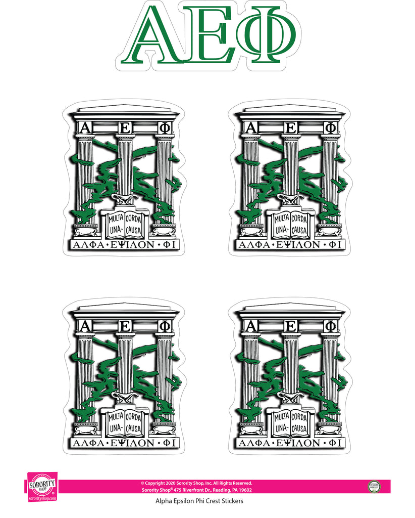 Alpha Epsilon Phi Crest Stickers