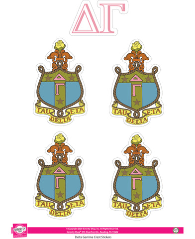 Delta Gamma Crest Sticker Sheet