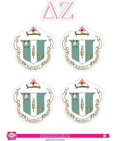 Delta Zeta Crest Sticker Sheet