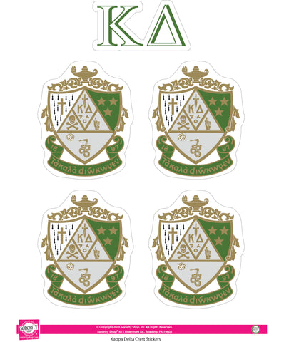 Kappa Delta Crest Sticker Sheet