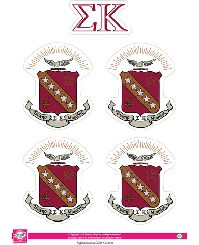 Sigma Kappa Crest Sticker Sheet