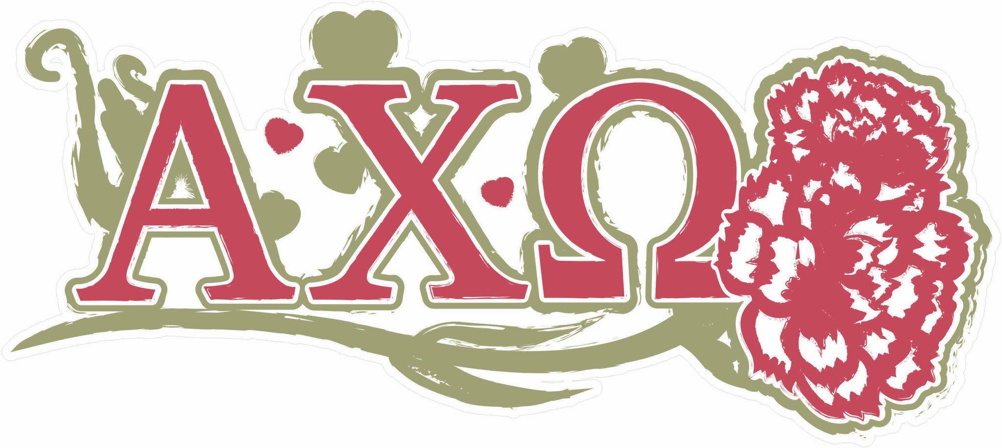 alpha chi omega 1175 x 45 laptop skinwall decal