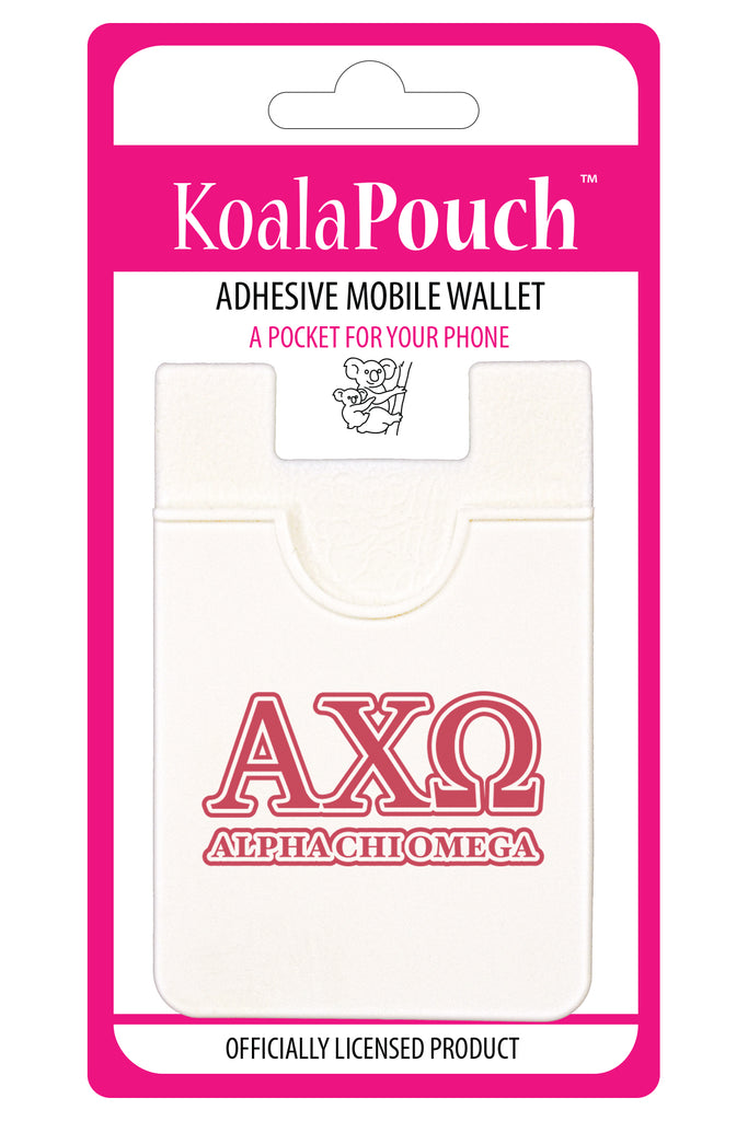 Alpha Chi Omega <br> Koala Pouch<br>Adhesive wallet for your phone